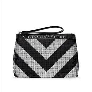Victoria's Secret Sequin Sparkle Clutch Makeup Bag